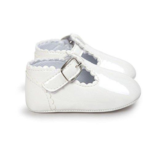Baby Brief Prinzessin Weiche PU-Leder Shoes Xmansky Kleinkind Turnschuhe Casual Schuhe Geschlecht für Baby Mädchen und Baby Jungen Weiß