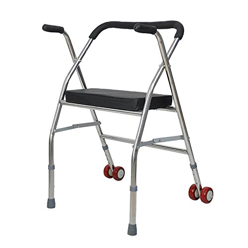 III- Walker/Walking Aid/Stehend Gehen/Steh Rahmen Älterer Warenkorb Alter ManCan Walker Zwei Runden zusammenklappbar Walking Aid (Farbe : A)