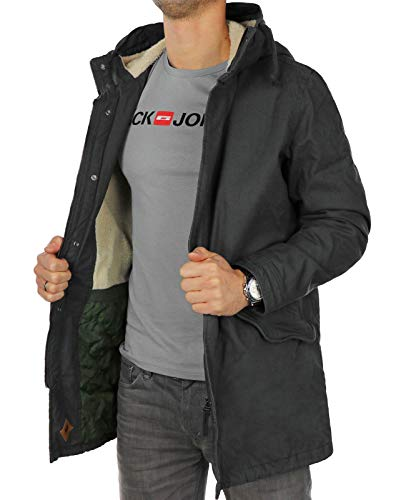 JACK & JONES Herren Jorbento Parka Jacket (S, Schwarz (Asphalt Fit: Reg)) - 2
