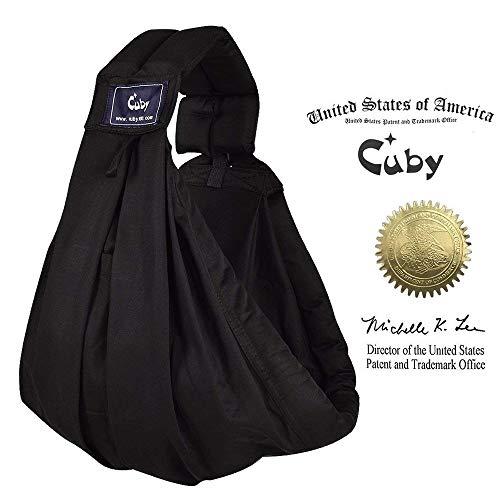 Cuby bebé eslingas Carrier para recién nacidos y lactancia materna gris (Black)