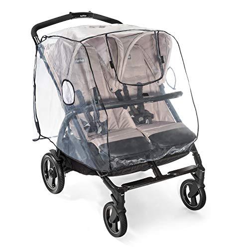 Euret 71584 - Protector para la lluvia para silla de paseo doble