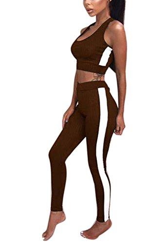 Le Donne Lo Sport Set Completi Reggiseno Yoga Brown