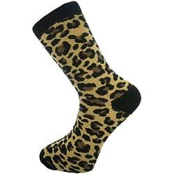 Mysocks® tobillo calcetines marrón leopardo impresión