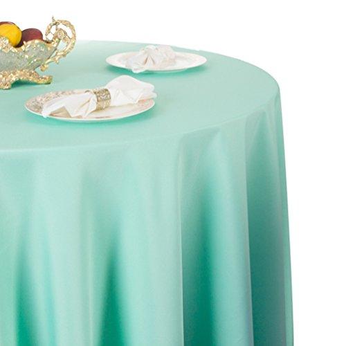 Heheja Pure Farbe Tischtücher Ornamente Eckig Rund Tischdecke Tiffany Blau 200cm