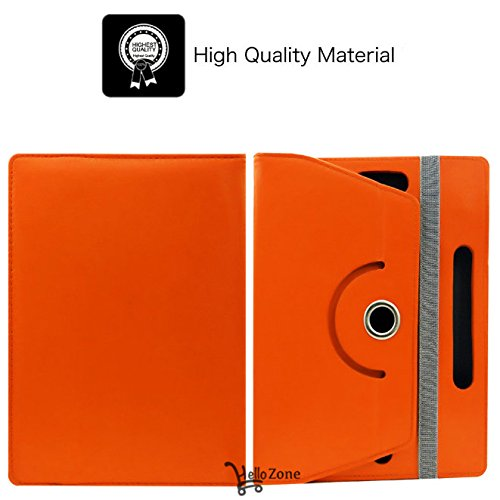 "Hello Zone Exclusive 360° Rotating 7"" Inch Flip Case Cover Book Cover for Swingtel Hello Tab 2 -Orange  available at amazon for Rs.245"