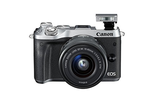 Canon M6 Mirrorless Camera with EF-M 15-45 mm Lens - Silver
