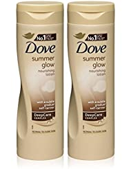 Dove - Lotion auto-bronzant corporel Summer Glow teint graduel moyen à foncé 250 ml (lot de 2)