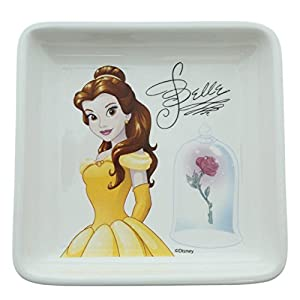 Enchanting Disney Enchanted Rose-Belle Trinket Tray, Ceramic, Multicolour, 12 x 12 x 2 cm