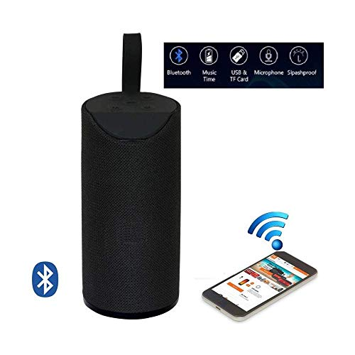 T3S® Bluetooth Speaker Portable Tg-113 Wireless Speaker | with Mic |with USB Port |Extra Bass Speaker Supported by Aux Cable, Pendrive (Black)