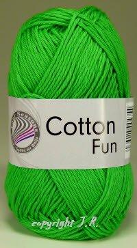 Häkelgarn Schulgarn Topflappengarn 100% Baumwolle Cotton-fun Farbe 12 Grün