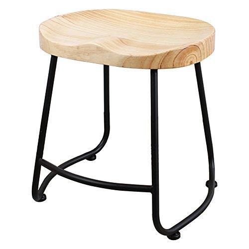 BTPDIAN Massivholz-Chrom-Sockel höhenverstellbare Drehbar Stuhl Küchenhocker (Farbe : Bunte, größe : 75cm)