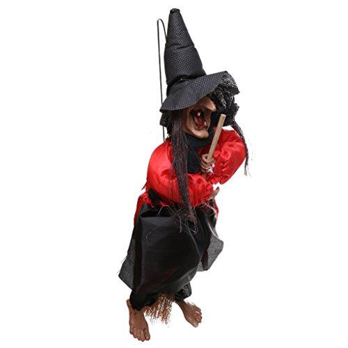 Beängstigend Hängende Hexe Sprachsteuerung Halloween Party Requisiten Spukhaus (Sie Eine Machen Requisiten Halloween)