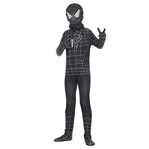 POIUYT Erstaunliche Spider-Man Cosplay Kostüm Kind Schwarz Multifunktions Elastic Bodysuit Strumpfhosen Set Movie Party Kostümfest Tanzkostüm,Child-S