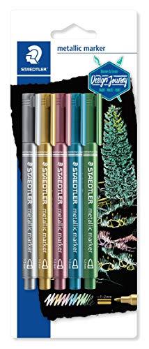 Staedtler 8323-S BK5. Rotuladores metálicos colores