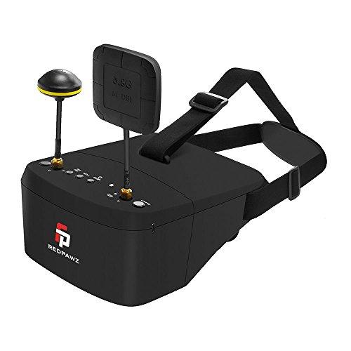 Preisvergleich Produktbild REDPAWZ EV800 FPV Brille Goggles DVR (5 Zoll 854 x 480 HD LCD / TF 128GB Speicher / 5.8G 40CH / Eingebaute Batterie 3.7V 2000mAh) 3D VR FPV Schutzbrille Video Brille Headset Gläser für RC Drone & Alle FPV