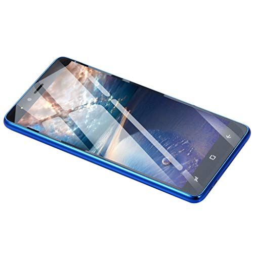 Minshao 5.0''Ultrathin Android 5.1Dual-Core 512 MB + 4 G + Zusätzliche 16 GB GSM WiFi Dual Smartphone (Blue)
