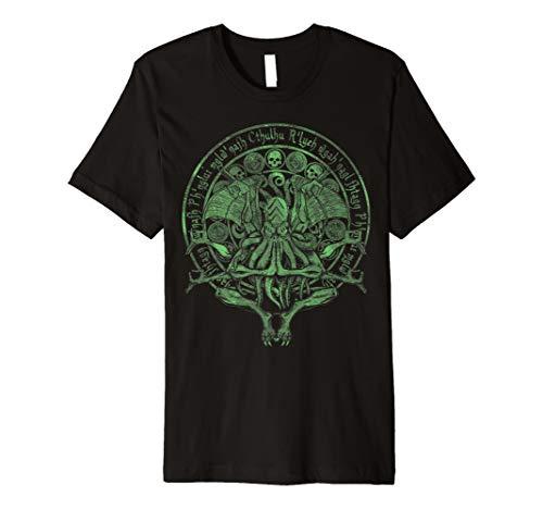 Die Idol Cthulhu grün Variante T-Shirt (Beängstigend T Shirt)