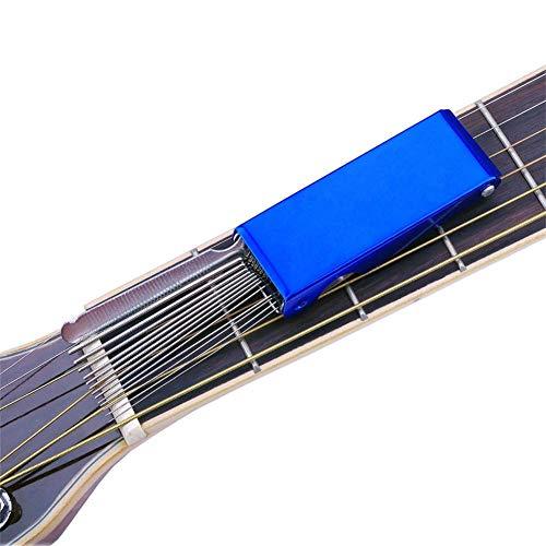 -/Bass-Steg-Steg-Slot File Set, DIY Gitarre Reparatur Werkzeug Werkzeug Box für Saitennut Slot ()