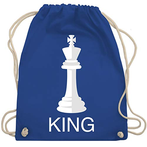 King Kostüm Carnival - Karneval & Fasching - Kings Schachfigur Karneval Kostüm - Unisize - Royalblau - WM110 - Turnbeutel & Gym Bag