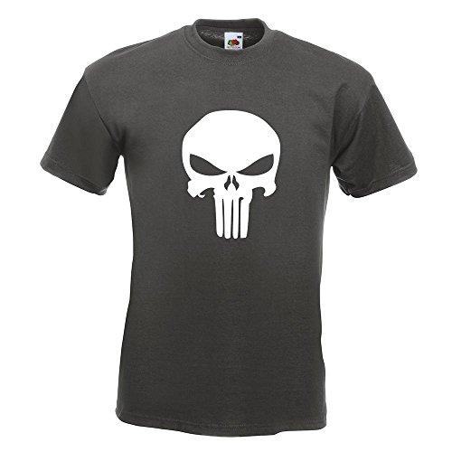 KIWISTAR - Totenkopf T-Shirt in 15 verschiedenen Farben - Herren Funshirt bedruckt Design Sprüche Spruch Motive Oberteil Baumwolle Print Größe S M L XL XXL Graphit