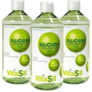 Vitasil - Silicium organique buvable bio-activated - 3 x 500 ml flacon - Source de vie et de jeuness