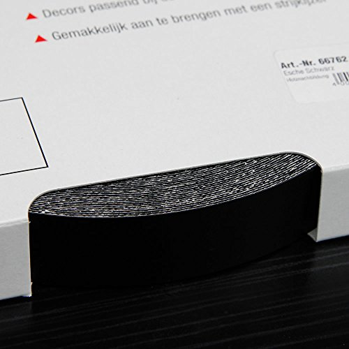 Kantenumleimer für Möbelbauplatten und Regalbretter Esche Schwarz, 25 m x 20 mm (Esche Schwarz)