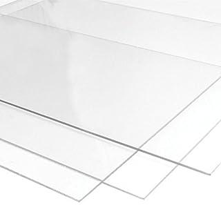 Perspex Acrylglasplatte   18 Farben zur Auswahl   3mm Stark   Größe A4   297x210mm   Kunststoff für Modellbau, Haus und Garten, Schriftfarbe:transparent
