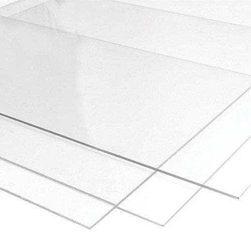 Acrylglasplatte | 18 Farben (schwarz, weiß, grau, blau) zur Auswahl | 3mm Stark | Größe A4 | 297x210mm | 10 Jahren Hersteller Garantie | Kunststoff für Modellbau, Haus und Garten, Schriftfarbe:transparent