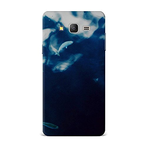 Samsung On5 Case, Samsung On5 Hard Protective SLIM Printed Cover [Shock Resistant Hard Back Cover Case] for Samsung On5 - Water Lake Fish Nature Indigo Blue  available at amazon for Rs.375