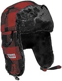 Fox Outdoor Sombrero de Piel Lumberjack Rojo/Negro