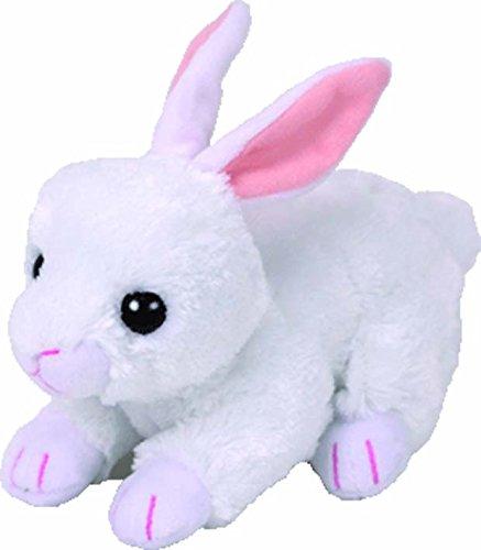 TY 42267 Cotton, Hase Weiß 15cm, Beanie Babies, Ostern Limitiert (Ty Beanie Baby Katze Plüsch)