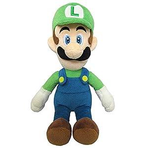 Super Mario - Peluche Luigi con Licencia Oficial de Nintendo, 20 cm (AGMSM6P-01L)