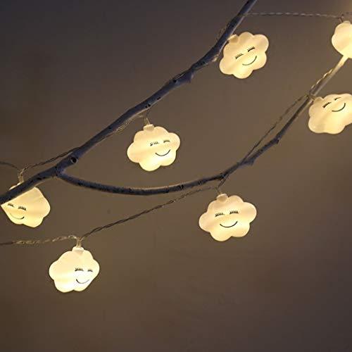 Neue LED Lichterkette Riss Wolke Lächeln Wolke Batterie Licht Weihnachten Hochzeit Dekoration kleine Laterne 10 Meter (Für Hochzeiten Laternen Kleine)