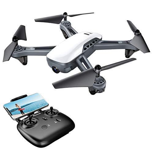 Potensic Drohne mit Dual-GPS 1080P HD Kamera RTH Funktion RC Quadcopter, FPV WiFi 5.0 GHz Höhe-halten-Funktion, Eine Taste Start / Landung, Ideal für Anfänger - D50