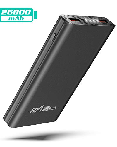Flylinktech Powerbank 26800mAh Portable Externer Akku Quick Charge PD 3.0 Power Bank QC 3.0 18W USB C Power Bank für iPhone XS/X/8/7,iPad,New ipad pro,MacBook,Samsung,Huawei und mehr Smartphone Laptop