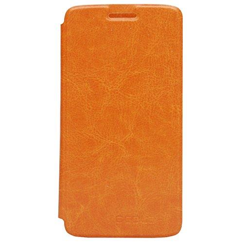 Guran® PU Leder Tasche Etui für UMI EMAX Mini Smartphone (Keine Innenschale) Flip Cover Stand Hülle Case-gelb