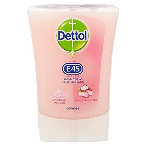 Dettol E45 Hand Wash Rose & Shea Butter, 250ml