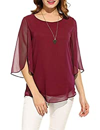 c4cd8d8e97ee24 Pegaso Fashion Women Girls Blouse Top Tees Shirt Tunic Fabric  Georgette(Scoop Neck 3