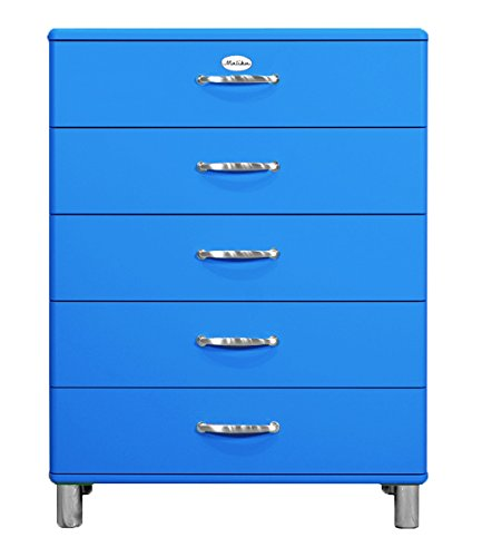 Tenzo 5295-003 Malibu Designer Kommode Holz, blau, 41 x 86 x 111 cm