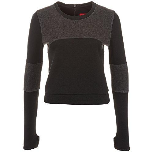 Nike Tech Fleece Crew Sweatshirts, Donna, Tech Fleece Crew Sweatshirt, schwarz / hellschwarz, XL/48-50