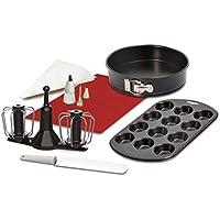Krups xf5560 Prep & Cook Juego de accesorios, color negro/blanco/rojo