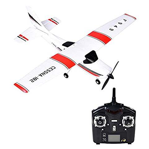 WL Toys F949 Glider Airplane Remote Control Fixed Wing Plane Flyer RTF RC Aircraft Drone with 2.4G 3CH Gyro Flying Helicopter for WLtoys Toys Indoors/ Outdoors Flight