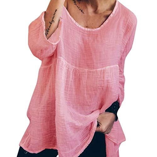 Victoria Kostüm Secret Katze - TianWlio Damen Mode Lose Solide Print Drucken Lose Taste Langarm Oberteil