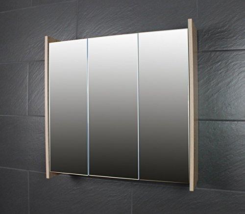Bad Schrank - Galdem FROSTI Spiegelschrank 70cm Sonoma Eiche Dunkel