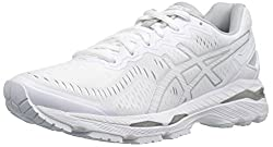 ASICS Womens Gel-Kayano 23 Running Shoe, White/Snow/Silver, 8 M US