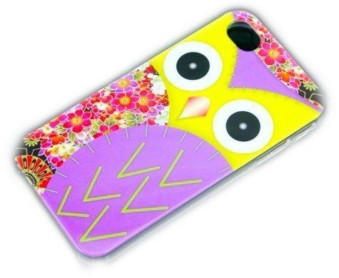 Apple iPhone 4/4S HARD Case Ours Panda Cro Rapper Coque de protection design Hard Case coque etui thematys® Motif chouette - Violet
