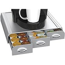 "Lector de Mind ""Anchor de café unidades cajón para Keurig Vue paquetes, Keurig K-CUPS, Nespresso cápsulas, CBTL/Pods Verismo o Tassimo T-Discs Para K-Cup, CBTL, Verismo, Dolce Gusto plata"