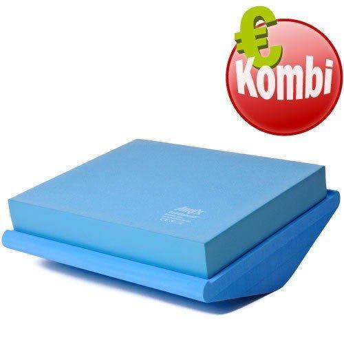 Airex Balance Set Koordinationswippe Pro mit Balance Pad in blau
