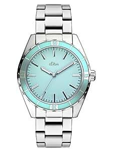 s.Oliver Damen-Armbanduhr Analog Quarz Edelstahl SO-2619-MQ
