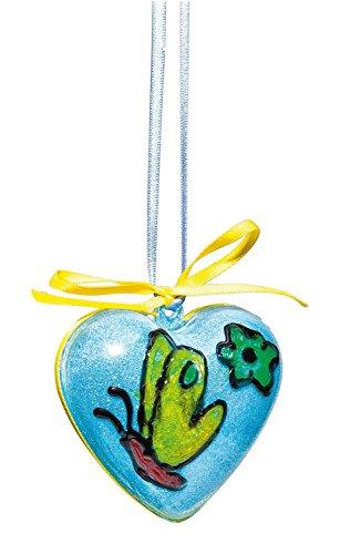VBS 6 Acryl-Herzen, H 6 cm, teilbar, transparent, mit Aufhängeöse